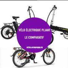 vélo électrique pliant comparatif